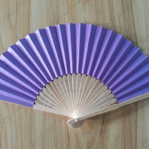 purple-promotion-gift-bamboo-paper-fans-folding-hand-fan