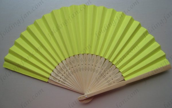 yellow-high-quality-bamboo-hand-fans-factory-price-hand-held-fans-paper