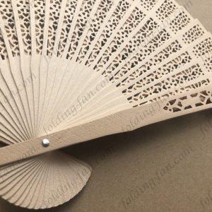 Custom Print Folding Wooden Fan Wedding Gift Promotion