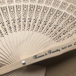 Design Wooden Hand Fan Customized Wooden Folding